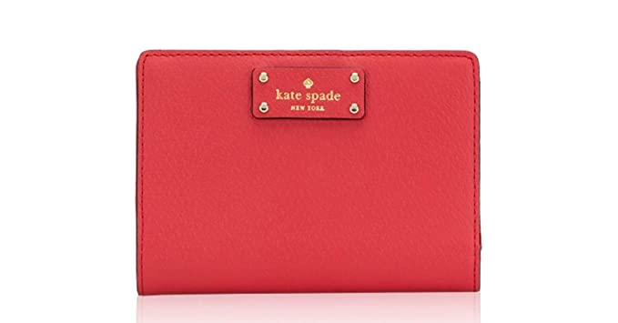 25c53f6581cf3 Kate Spade New York Tellie Grove Street Embossed Leather Wallet (Red  Carpet) at Amazon Women s Clothing store