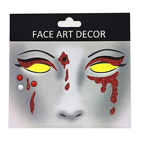 Xiang-Tattoo Sticker Etiquetas engomadas del Tatuaje de la Cara ...