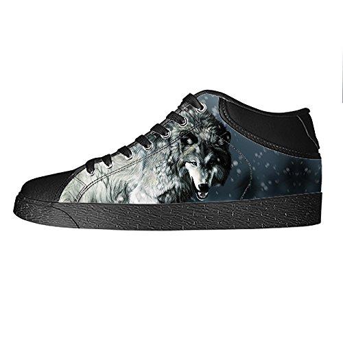 Tetto E Ginnastica Lacci Custom Women's Delle Lupo Luna Alto Canvas I Da Shoes Scarpe OxZ5gwqnZ
