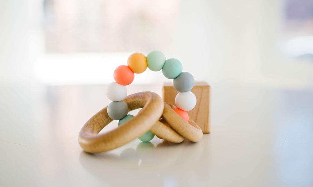 Bannor Saturn Ring Baby Teether + Rattle