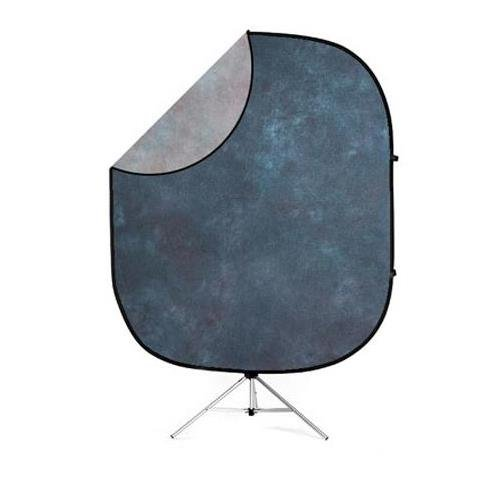 Savage Double Sided Collapsible Background Kit (Indigo Nights) complete with Stand by Savage