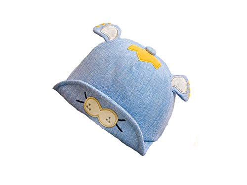 Pullic Newborn Lion Embroidery Sun Visor Sun Protection Hat Baby Baseball Cap for 0-8 Months(Blue) (Color : Blue, Size : 42-46cm)