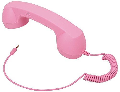 AMC Retro Vintage 3.5 mm Cell Phone Handset Receiver for iPhone Pink from AMC