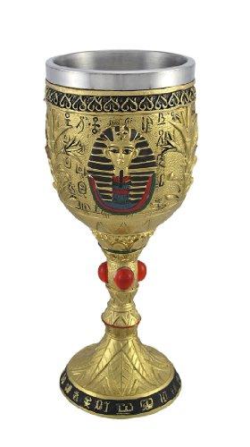 [Egyptian Pharaoh Golden Wine Goblet 6 oz.] (Egyptian Wine)