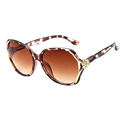 YEZIJIN Mens Womens Rose Big Frame Retro Vintage Sunglasses ()