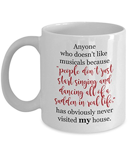 Musical Theater Singing & Dancing Funny Fan Gift Mug for Theatre Arts (Year 11 Last Day Costume Ideas)