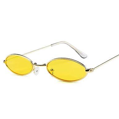 CCMOO 90s gafas de sol ovaladas redondas pequeñas para las ...