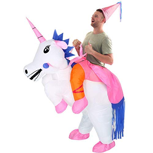 Linsion Unicorn Costume Inflatable Suit Halloween Cosplay Fantasy Costumes Adult/Kids ()