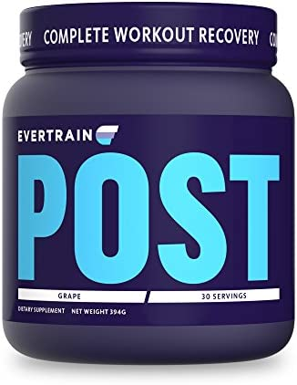 EVERTRAIN Post – Premium Clean Post-Workout Powder with Natural Flavors and Colors – Recovery and Anti-Inflammatory Supplement – 30 Servings – Grape