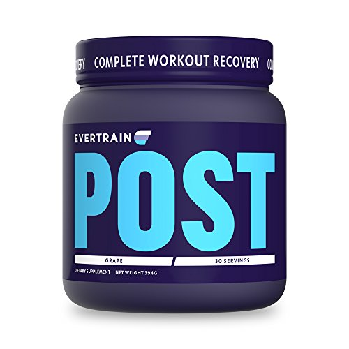 Evertrain Post Workout (Vegan Friendly) - Complete Post Workout Recovery with Vegan InstAminos®, CarnoSyn® VitaCherry®, ActiGin® - 30 Serving