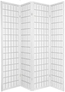 TOKYO White Handmade Wood And Paper 4 Pane Room Divider Splitter  ScreenOriental Shoji Screen Room Divider In Natural Amazon Co Uk