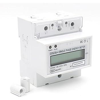 1pcs DDS238-4 20(100) Single Phase DIN-rail Type Kilowatt Hour kwh Meter 220V 60Hz 20(100)A