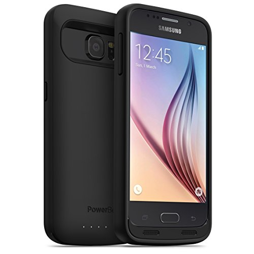 PowerBear 3500mAh Extended Rechargeable High Capacity Battery Case with Screen Protector for Samsung Galaxy S6 - Black (Power Bear Llc compare prices)