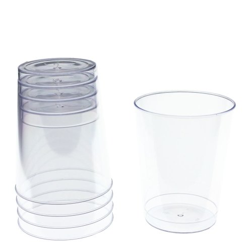 Exquisite 500 Count 8 Oz. Elegant Clear Plastic Cups - Crystle Clear Party Wedding Tumblers by Exquisite (Image #3)