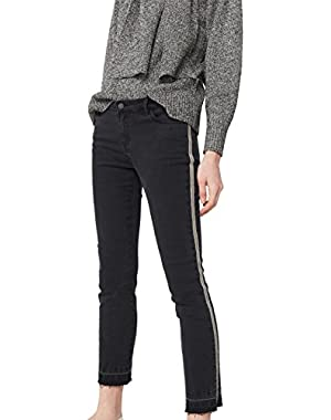 Mango Women's Relaxed Cropped Jeans
