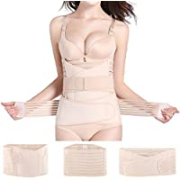 Ausale 3 in 1 Postpartum Belly Wrap Support Belt-Recovery Belly/Waist/Pelvis Belt Shapewear Nude