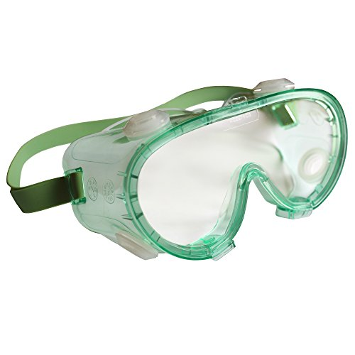 211 Eyeglasses - Jackson Safety V80 Monogoggle 211 Goggle Protection (14384), Clear Lens, Green Frame, 36 Pairs/Case