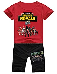 Imilan Kid'sT-Shirt with Short Pants Clothes Suit Inspired by Fortnite Shooting Game
