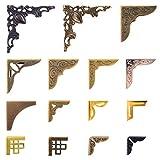 60 PCS Metal Book Corner Protector 15 Styles