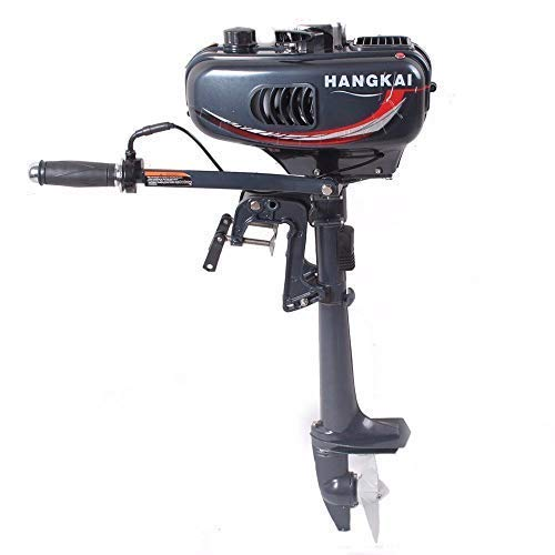 Cozyel 3.5 HP 2 Stroke Heavy Duty Outboard Motor Boat Engine w/Water Air Cooling System