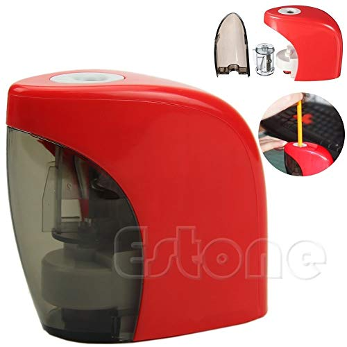 (New-Sky-View - Red Automatic Desktop Electric Switch Home Office Sharpener)