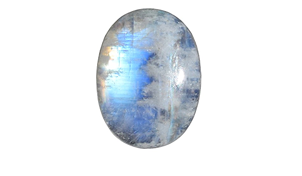 100.CT 100/%Natural Blue Fire Rainbow Moonstone Pear Gemstone 35x43x10MM Approx Loose Cabochon Jewelry Making Loose Cabochon Smooth Polish