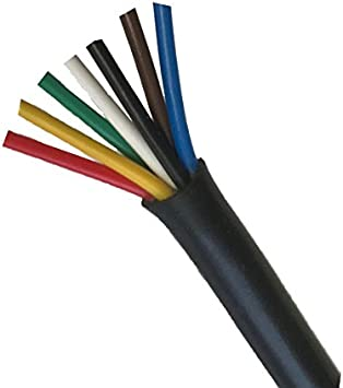 """Lot of 10 2 Pin Weather Resistant Trailer Wire 16 ga 12/"""" Cable"""