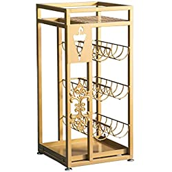 Umbrella Stands/Flower Stand,Antique Metal Square Umbrella Rack Floral Design Canes Walking Stick Holder, 28x28x60cm (Color : Gold)