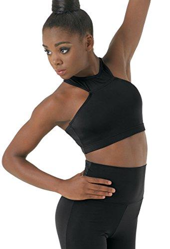 Balera Halter Dance Bra Top Racerback Black Adult Small