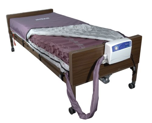 Drive Medical Med Aire Low Air Loss Mattress Replacement System with Alternating Pressure, Dark Purple, 8'