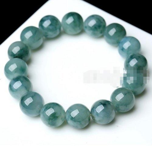 Phetmanee Shop 10mm 100% Natural A Grade Green Jade Jadeite Round Gemstone Beads Bracelet 7.5''