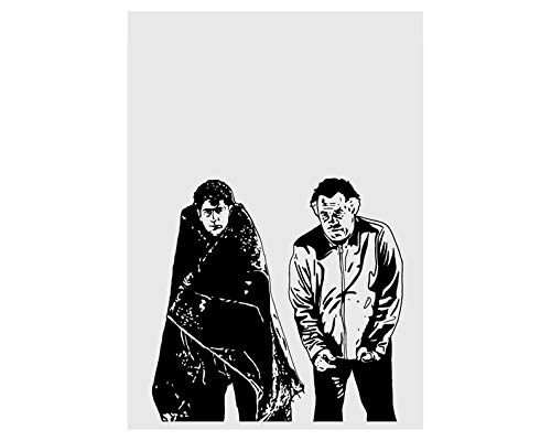 Lee Tee The Sopranos Pine Barrens Paulie Walnuts & Christopher Moltisanti Funny Poster Gift for Men Woman Poster Home Art Wall Posters [No Framed]