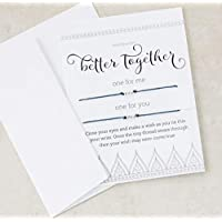 Better Together Couples Matching Wish Bracelet Set of Two Gift Greeting Card