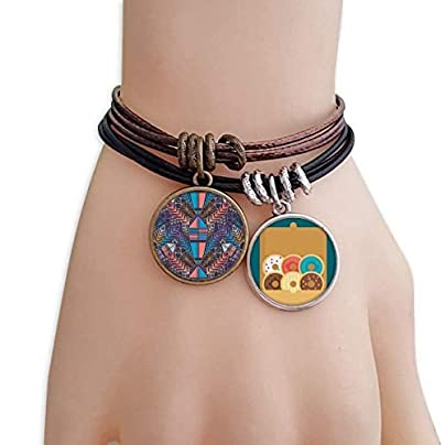 YMNW Colorful Building Symmetric Pattern Bracelet Rope Doughnut Wristband Estimated Price -