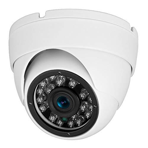 (Analog CCTV Camera HD 1080P 4-in-1 (TVI/AHD/CVI/960H Analog) Security Dome Camera Outdoor Metal Housing, 24 IR-LEDs True Day & Night Monitoring 3.6mm Lens (White) )
