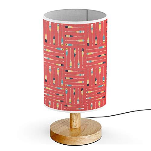 - ARTSYLAMP - Wood Base Decoration Desk Table Bedside Light Lamp [ Canoe Paddle ]