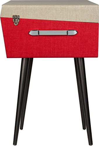Crosley CR6233D-RE Dansette Bermuda Portable Turntable with Aux-in and Bluetooth, Red by Crosley (Image #4)