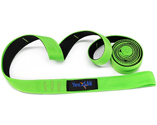Yes4All Stretch Out Strap for Exerciser - Black/Green - ²X3GUZ
