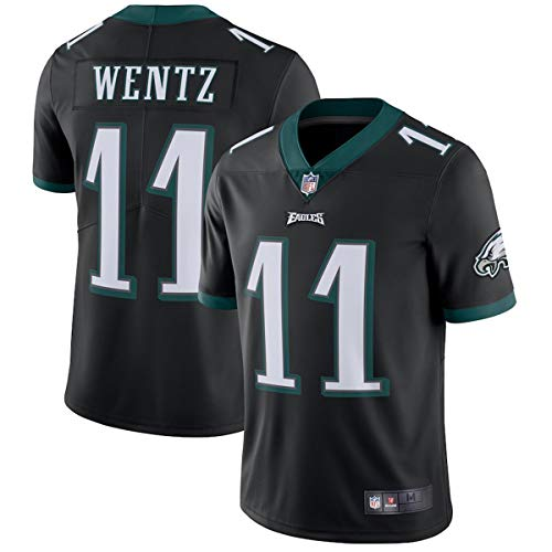 NIKE Boys Carson Wentz Philadelphia Eagles NFL Youth 8-20 Black Alternate Jersey (YTH Large 14/16)