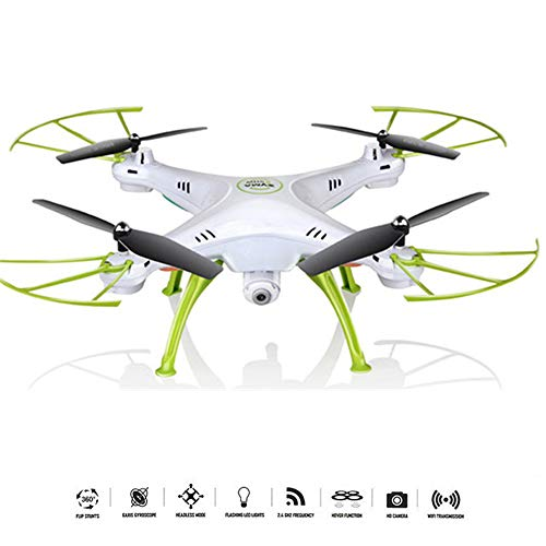 QUARKJK 2MP RC Drone Syma FPV RC Quadcopter Mini Drone with Camera 2.4G 6-Axis RC Helicopter Drones with Camera HD dron Aircraft,White
