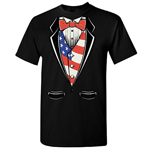 American President Tuxedo American Patriotic Adult Unisex T-shirt USA Independence 4th of July XXX-Large