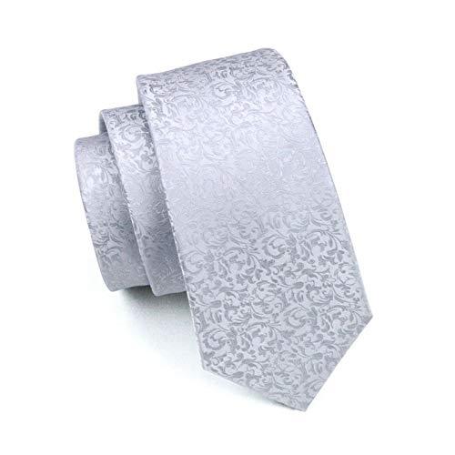 nbsp;For Jacquard 100 Ls 1126 nbsp; Novelty LLZGPZLD Party Silk Tie Necktie Woven Silver Business Wedding Tie qBgFwg