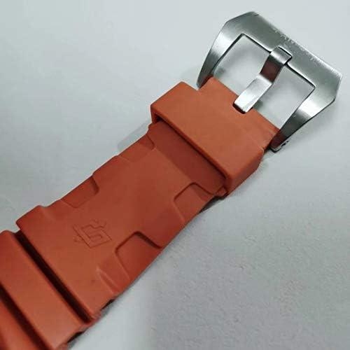 Montres Casual Hommes Automatique Mécanique Bronzo Lunette en Céramique Orange Caoutchouc Acier Inoxydable 3 Jours 1950 Montre Bronze Lumineux 47mm