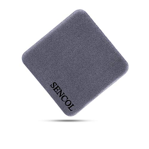 [4-Pack] - Microfiber Screen Cleaner Sticker; Screen Cleaner Cloth; 4-in-1; [Large Size]: 1.6 x 1.6 inches (4cm x 4cm) (Gray)