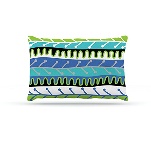 Kess InHouse Jacqueline Milton ''Salsa-Blue'' Aqua Green Dog Bed by Kess InHouse
