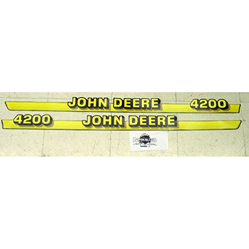 John Deere 4200 hood trim decal set for a 4200 compact tractor M116986 M116987