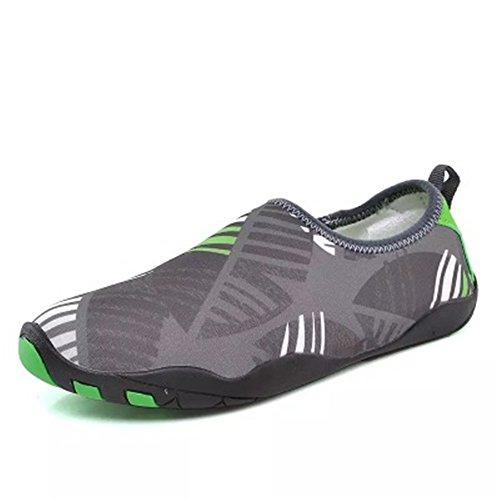Quick Running Women Pool Shoes Dry Socks COLOV Walking Beach Shoes Men Barefoot Swim Water Aqua Grey Sports for qRBWaXFw