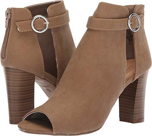 Toe Cut Out Peep Shoes (Madden Girl Women's Berkk Taupe Nubuck 6.5 M US)