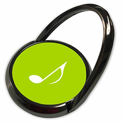 3dRose InspirationzStore Music Art Designs - Light Green Eighth note Music note - one single lime musical quaver - Phone Ring (Lime Musical Mobile)