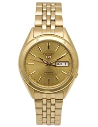 Seiko Men's SNKL28 Gold Plated Stainless Steel Analog with Gold Dial Watch